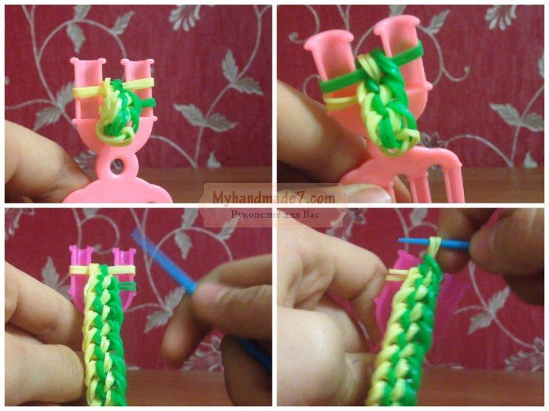 Плетение из резинок на станке уроки у сергея